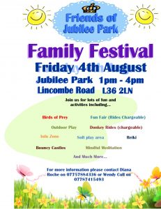 Friends of Jubilee Park – Friday 4th August 1pm – 4pm